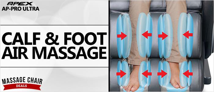 Apex AP-Pro Ultra Massage Chair Calf and Foot Massage