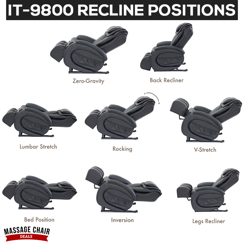 Infinity IT-9800 Recline Positions