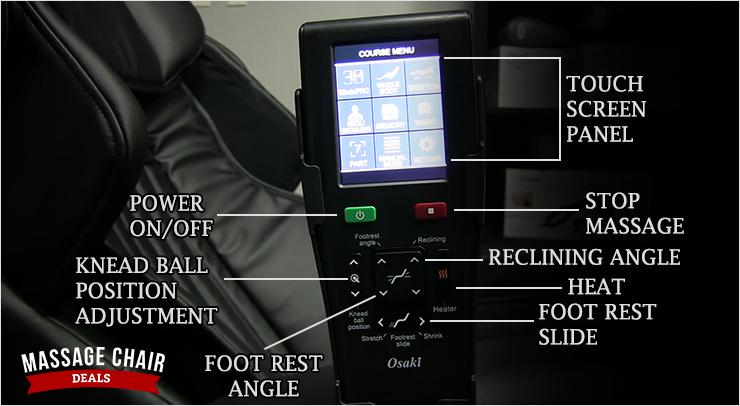 Osaki 4D JP Premium Japan Massage Chair Remote Control