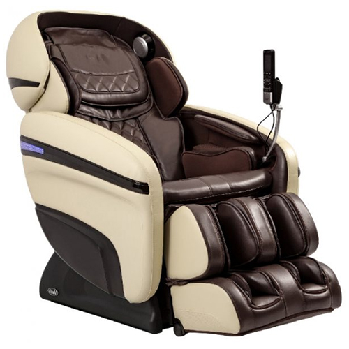 Osaki OS-3D Pro Dreamer Massage Chair Brown and Cream
