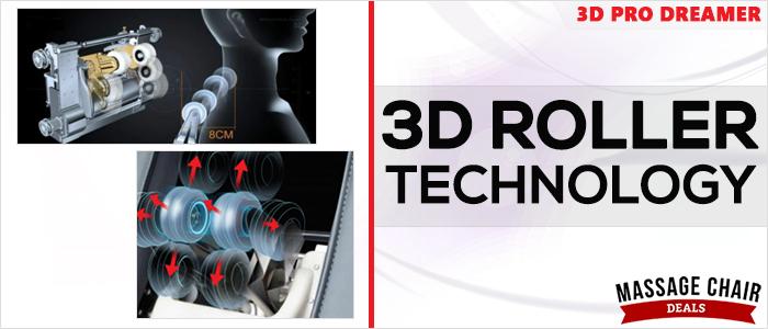 Osaki OS-3D Pro Dreamer Massage Chair 3D Roller Massage