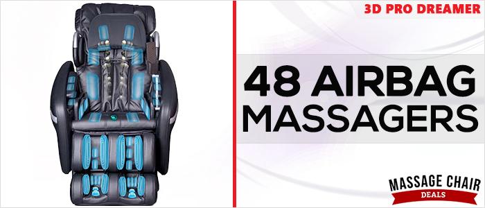 Osaki OS-3D Pro Dreamer Massage Chair Airbags