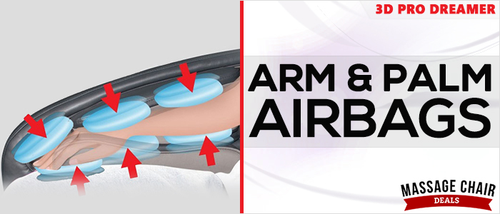 Osaki OS-3D Pro Dreamer Massage Chair Arm Airbags