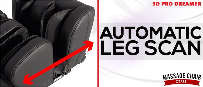 Osaki OS-3D Pro Dreamer Massage Chair Auto Leg Scan
