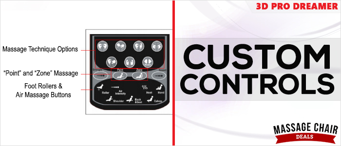 Osaki OS-3D Pro Dreamer Massage Chair Custom Controls
