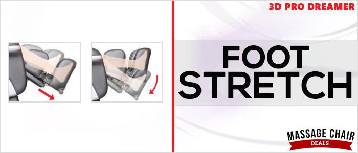 Osaki OS-3D Pro Dreamer Massage Chair Foot Stretch