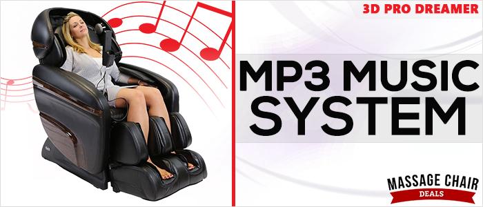 Osaki OS-3D Pro Dreamer Massage Chair MP3 Music System