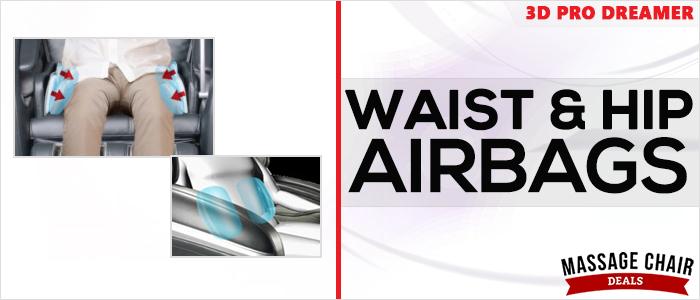 Osaki OS-3D Pro Dreamer Massage Chair Waist Airbags
