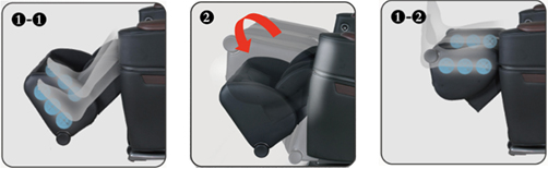 Osaki OS-3D Pro Intelligent Zero Gravity Massage Chair Foot and Calf Roller Massage