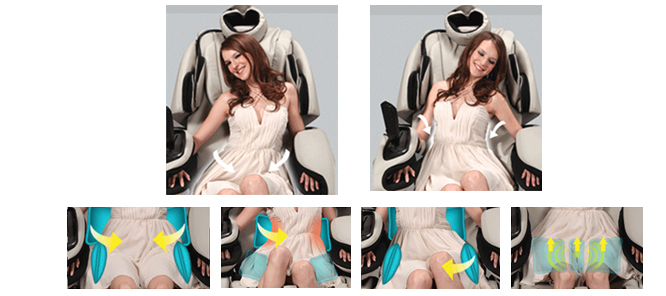 Osaki OS-3D Pro Intelligent Zero Gravity Massage Chair Infrared Body Scan Technology and Pelvis and Hip Massage