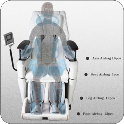 Osaki OS-3D Pro Intelligent Zero Gravity Massage Chair airbags