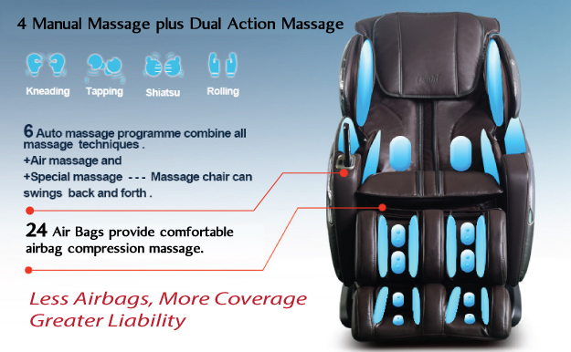 Osaki OS-4000LS Massage Chair Airbags