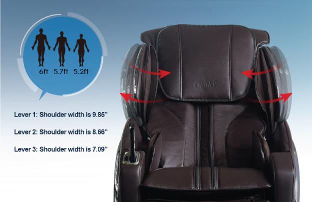 Osaki OS-4000LS Massage Chair Shoulder Adjustment