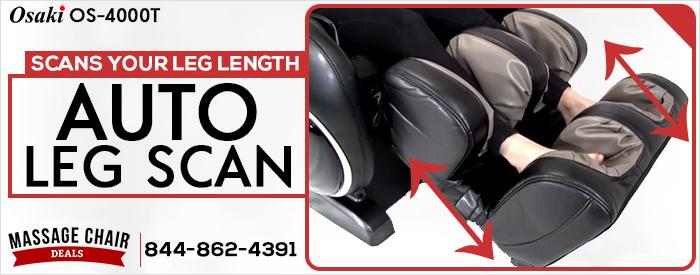 Osaki OS-4000T Massage Chair Automatic Leg Scan