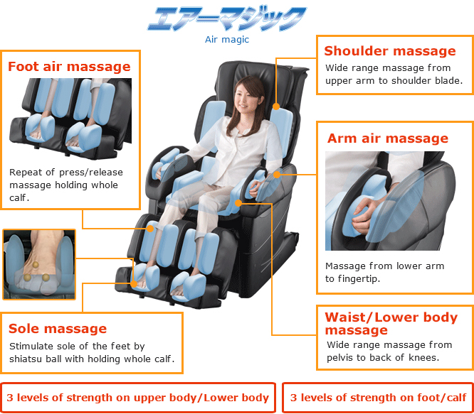 Osaki OS 4D JP Japan Premium Massage Chair Airbag Magic System