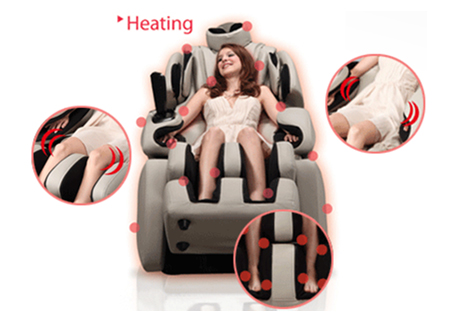Osaki OS-7075R Executive Zero Gravity Deluxe Massage Chair Expansive Heating System