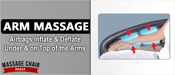 Osaki OS-7200CR Massage Chair Arm Airbag Massage