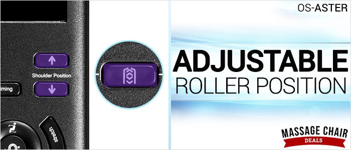 Osaki OS-Aster Massage Chair Adjustable Roller Position
