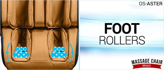 Osaki OS-Aster Massage Chair Foot Rollers