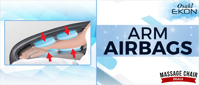 Osaki OS-Pro Ekon Massage Chair Arm Airbags