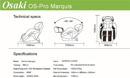 Osaki OS-Pro Marquis Zero Gravity Massage Chair Features 07