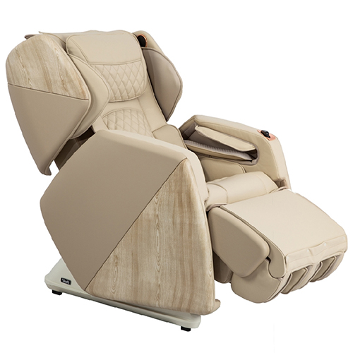 Osaki Soho Massage Chair Beige Flipped Ottoman