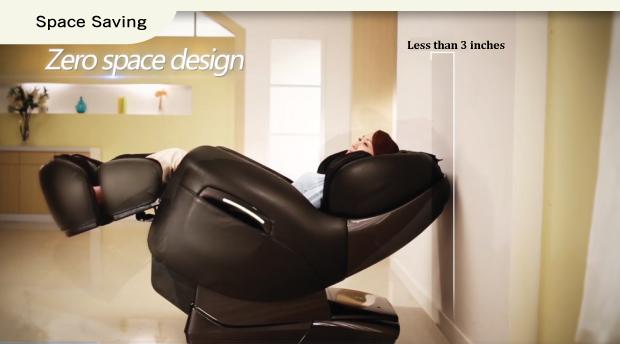 Osaki TP-8500 Massage Chair Space Saving Feature
