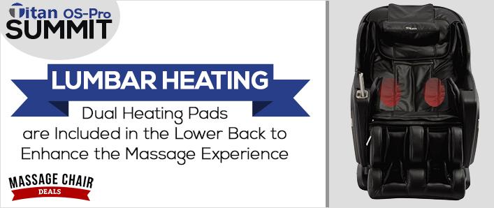 Titan OS-Pro Summit Massage Chair Lumbar Heating