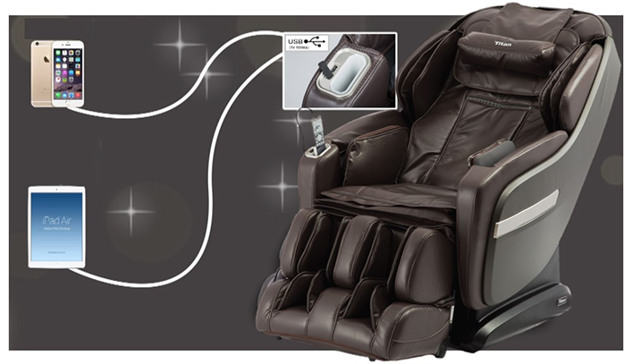 Titan OS-Pro Summit Massage Chair USB Charging Station