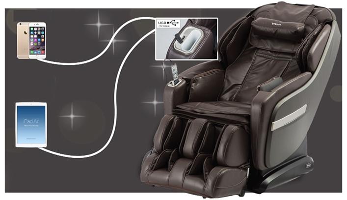 Titan OS-Pro Summit Massage Chair USB Charging Station