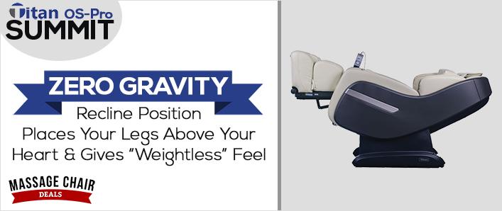 Titan OS-Pro Summit Massage Chair Zero Gravity Recline