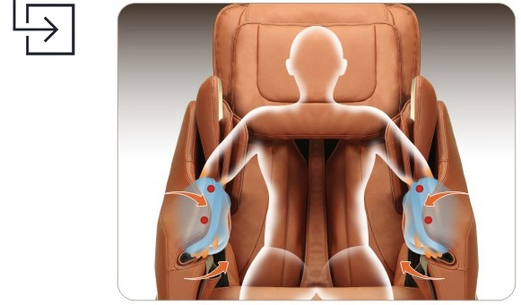 Titan Pro Executive Massage Chair Arm Massage Airbags