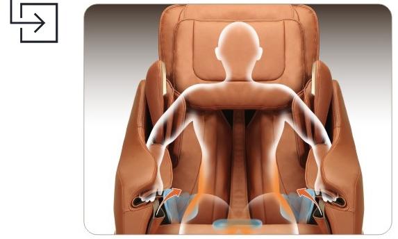 Titan Pro Executive Massage Chair Hip Massage