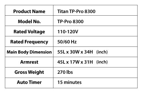 Titan TP-Pro 8300 specs