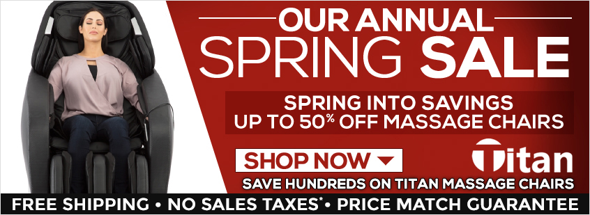 Titan Massage Chairs Spring Sale