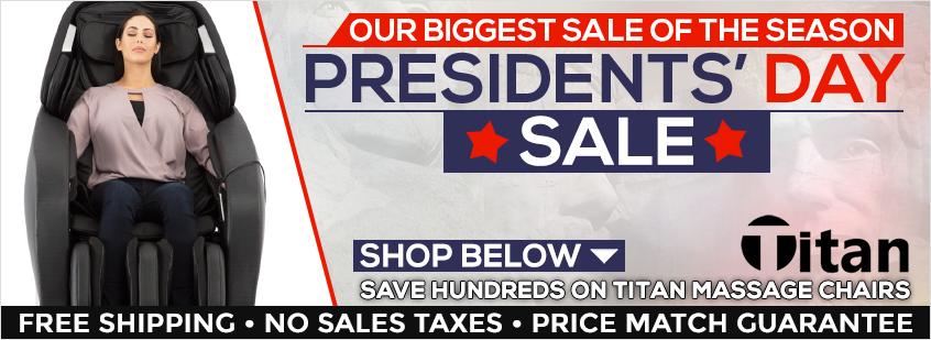 Titan Massage Chairs Presidents' Day Sale