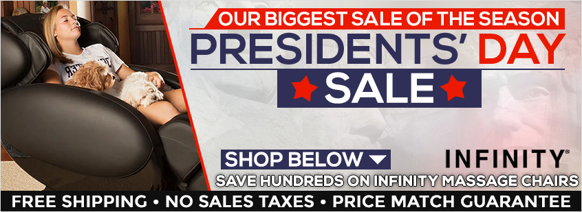 Infinity Massage Chairs Presidents' Day Sale