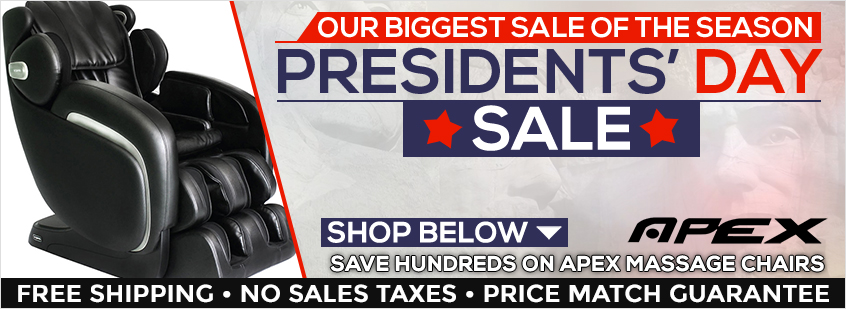 Apex Massage Chairs Presidents' Day Sale
