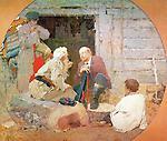 У.І. Ленін сярод сялян. Цэнтральная частка трыпціха. 173x200