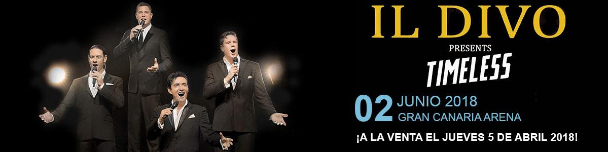 Il Divo Timeless Tour en Gran Canaria el 2 de Junio de 2018 en el Gran Canaria Arena. Venta oficial de tickets y entradas para el concierto. Mastaquilla