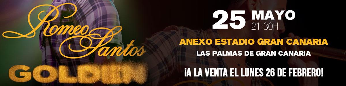 Romeo Santos en Gran Canaria y Tenerife el 25 y 26 de Mayo de 2018. Venta Oficial de tickets y entradas para el concierto. Mastaquilla