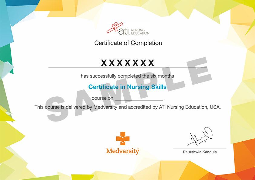 Certificate Course In Nursing Skills Medvarsity