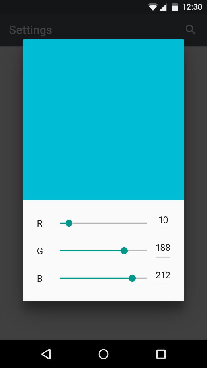 Correct slider value example