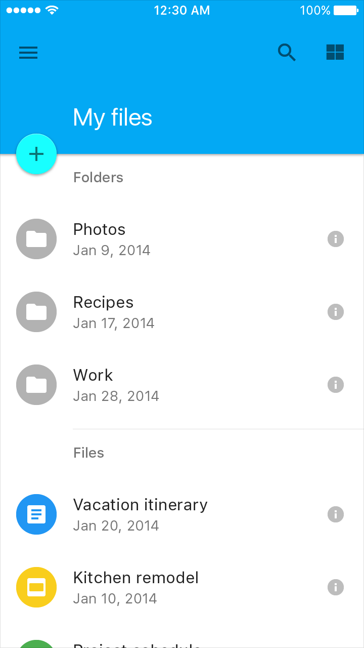 Lists Components Material Design – Material List