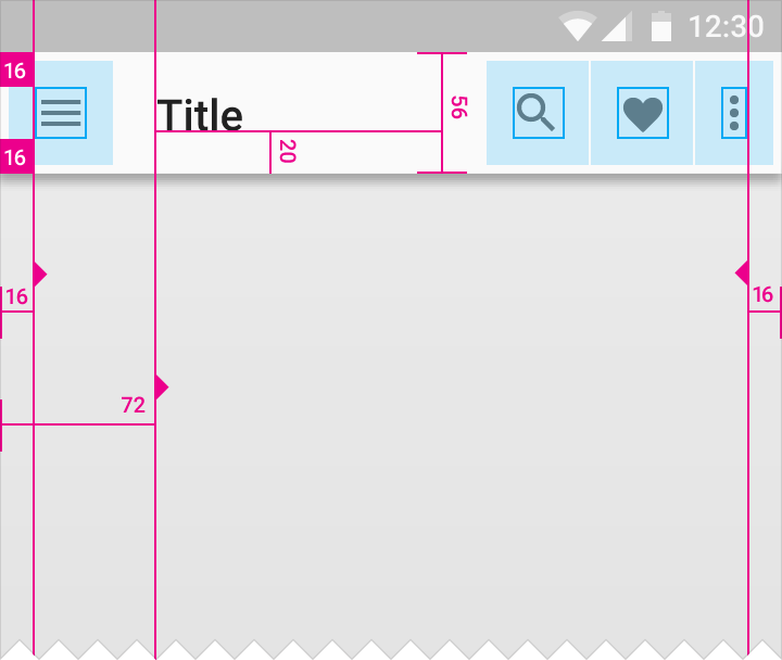 Structure - Layout - Material Design
