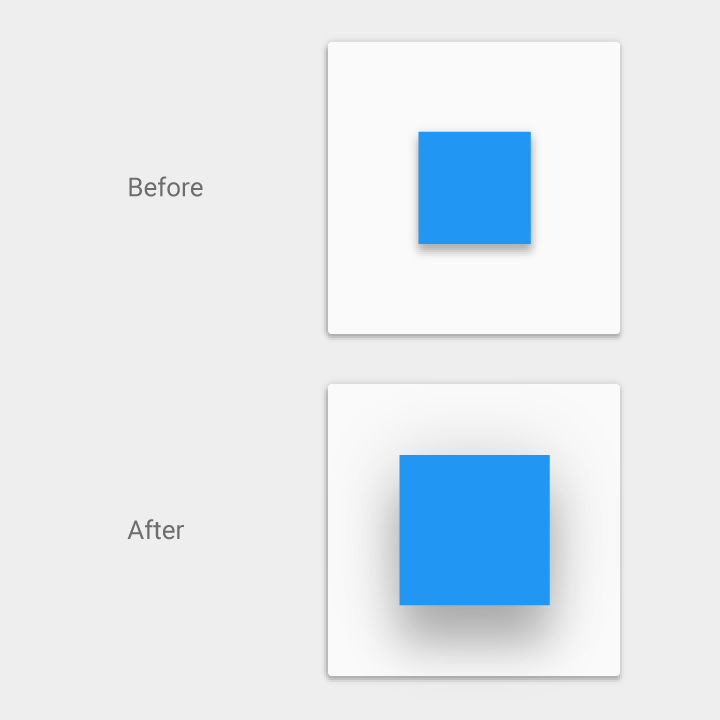 Elevation Shadows Material Design - What's the elevation here