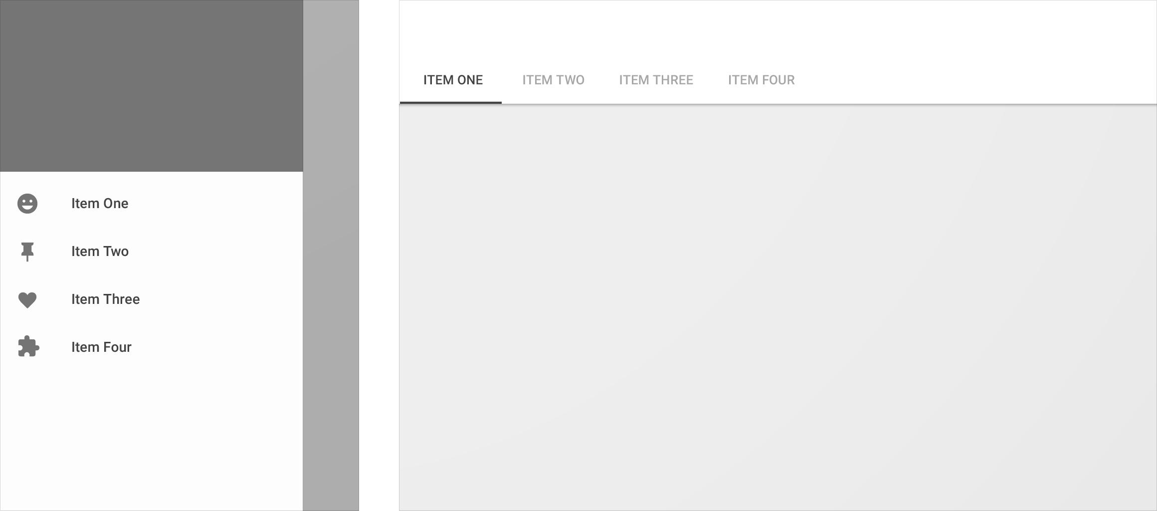 Responsive UI - Layout - Material Design