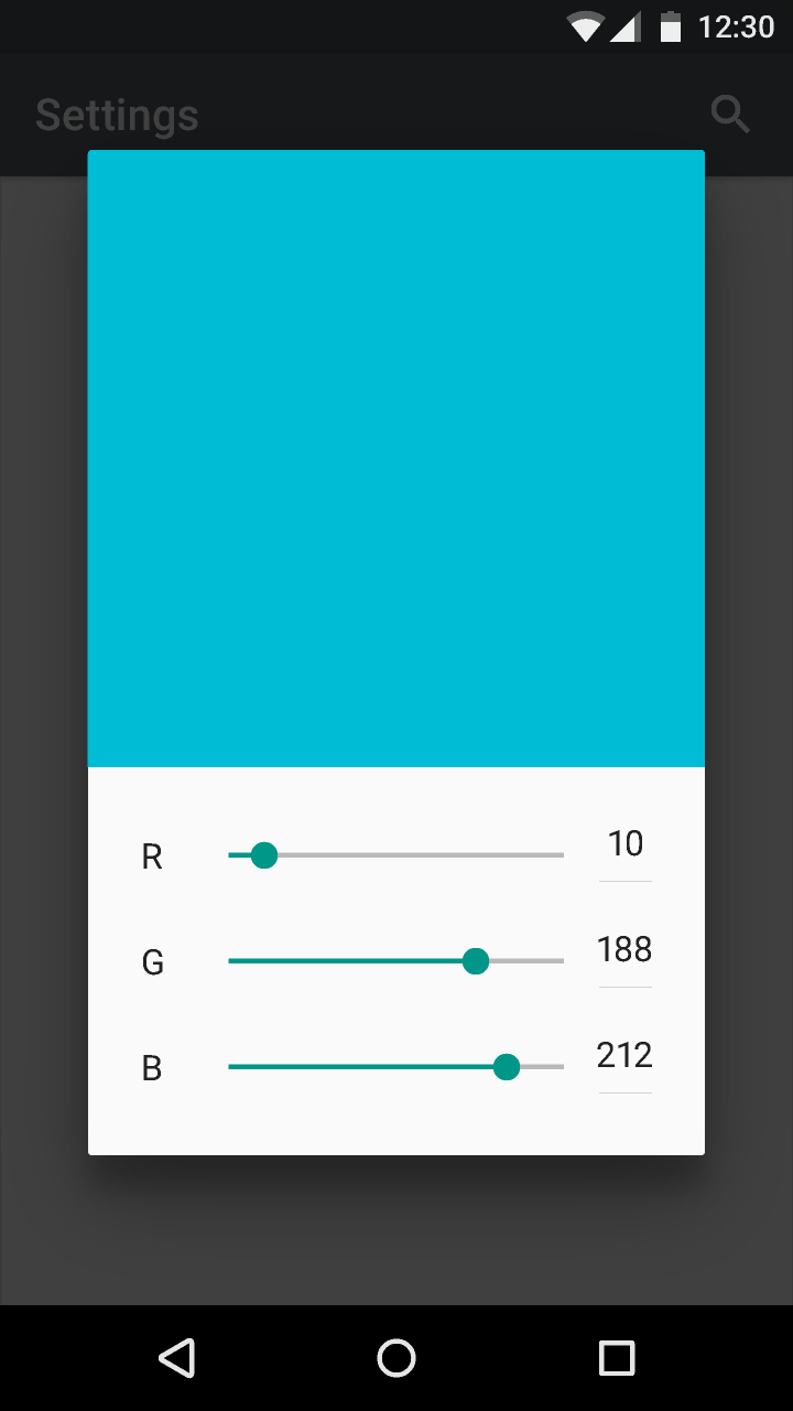 Sliders Components Material Design