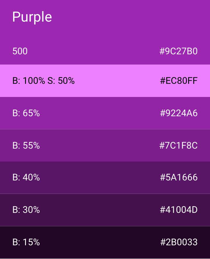Accent Color For Purple
