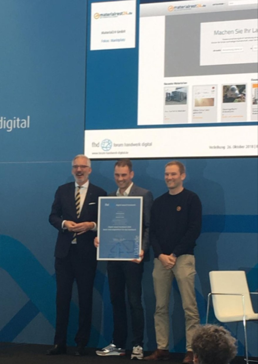 Preisverleihung Forum Handwerk Digital